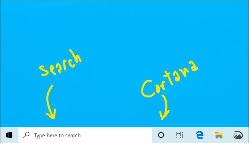 Cortana recherche