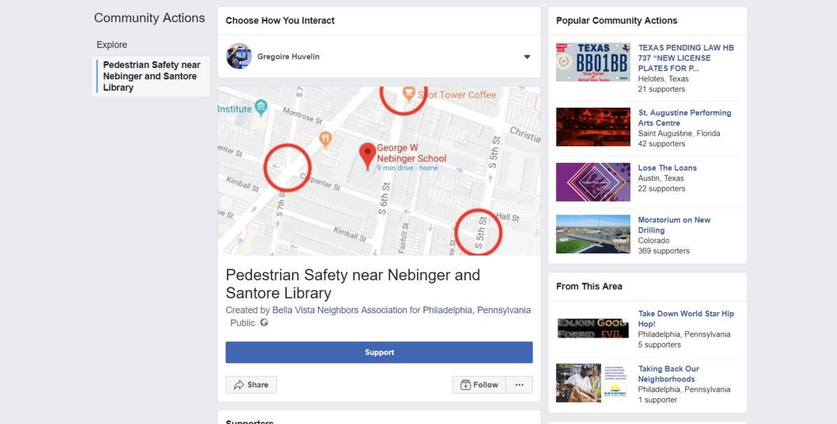 Facebook pétition en ligne