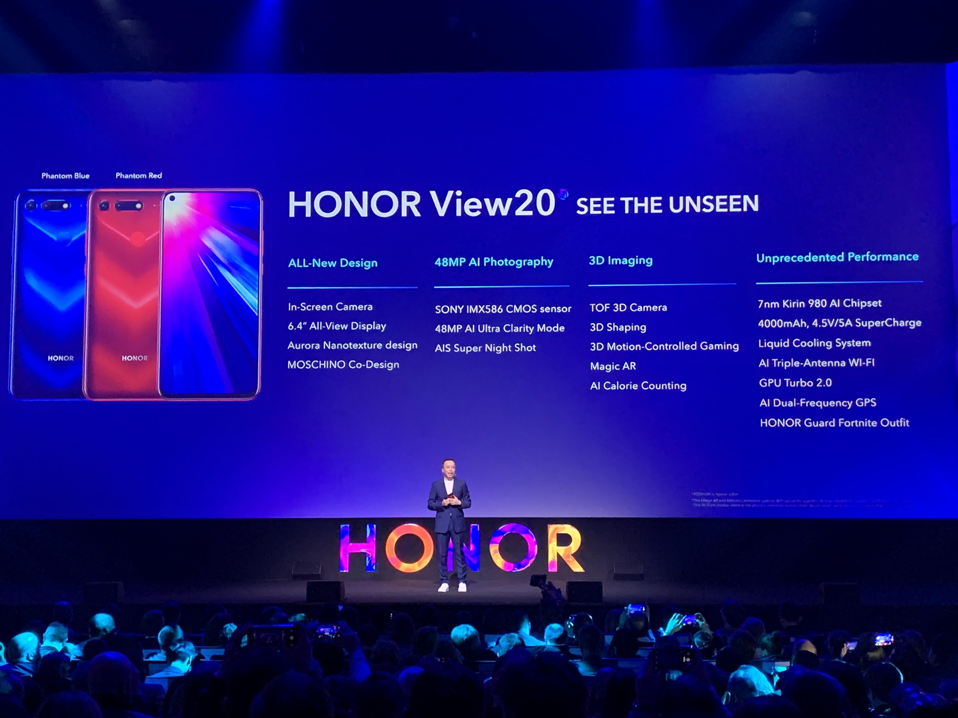 Le View 20 dévoilé en Europe — Honor