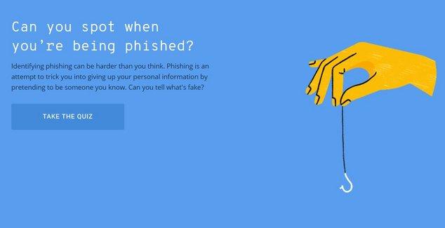 Phishing quiz Google