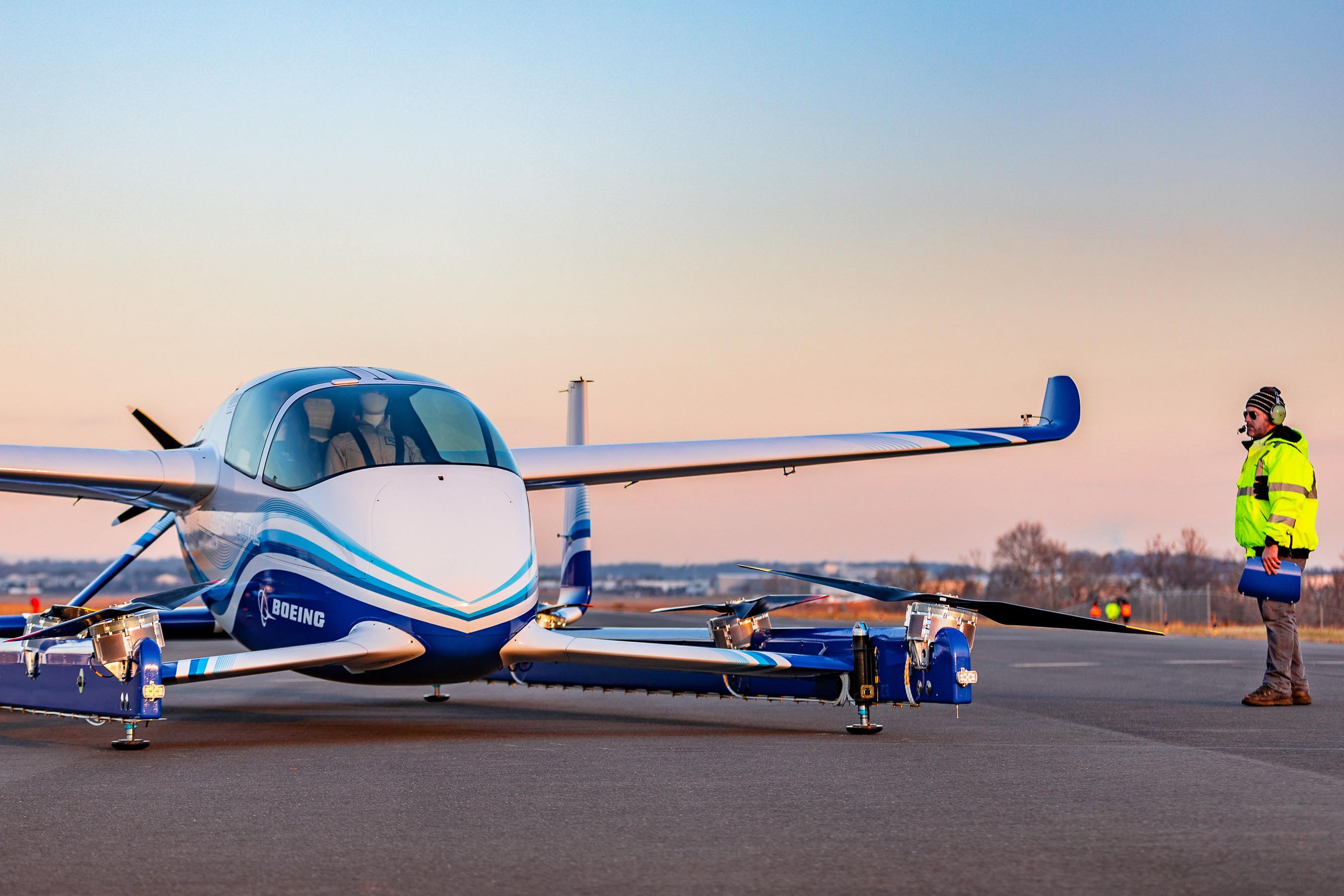 Le taxi volant autonome de Boeing prend l'air