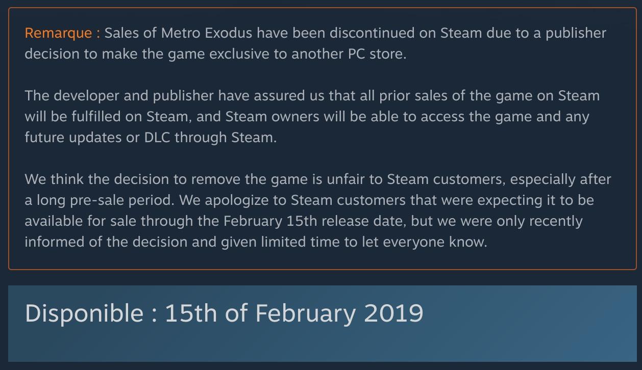 La taille du jeu dévoilée — Metro Exodus