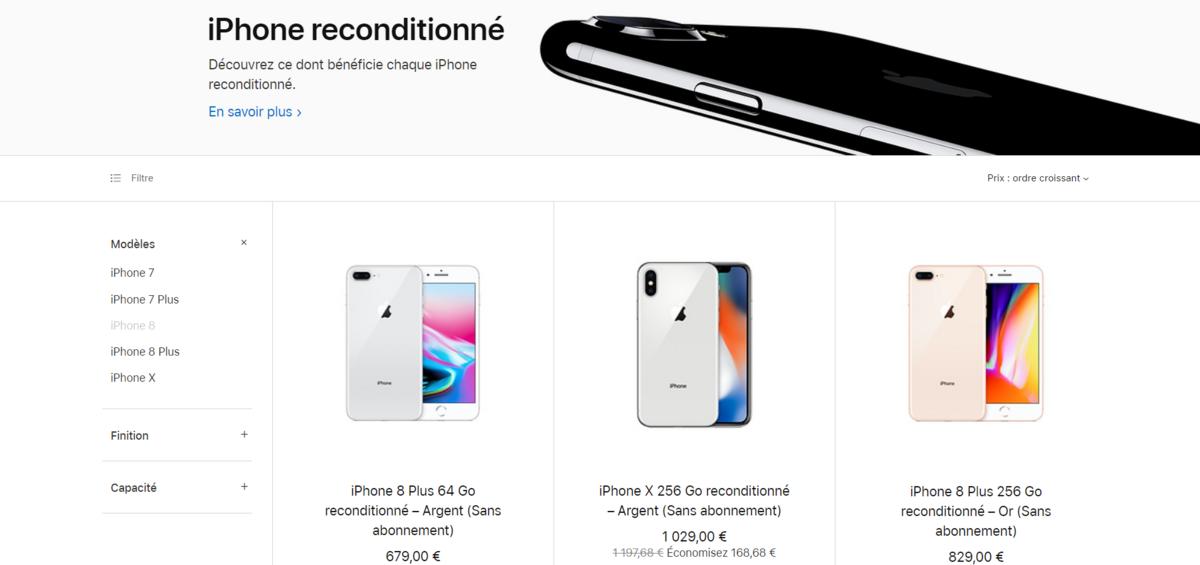 iPhone recondtionné