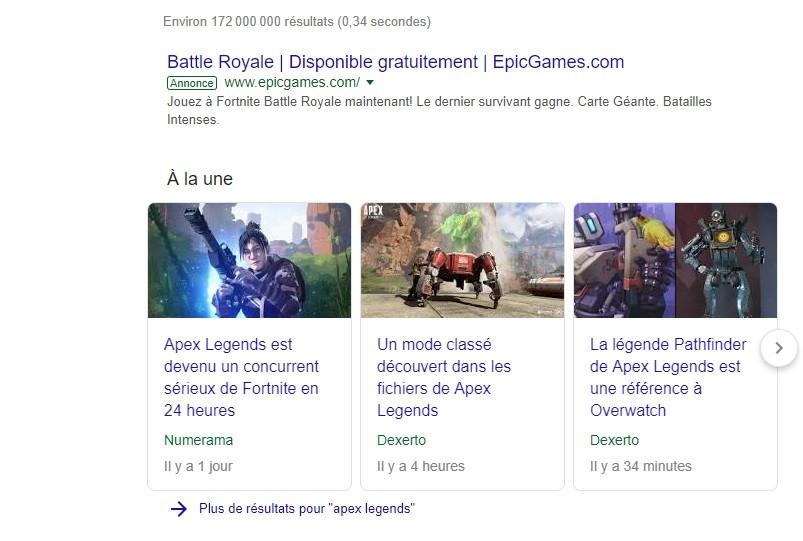 Apex Legends Google