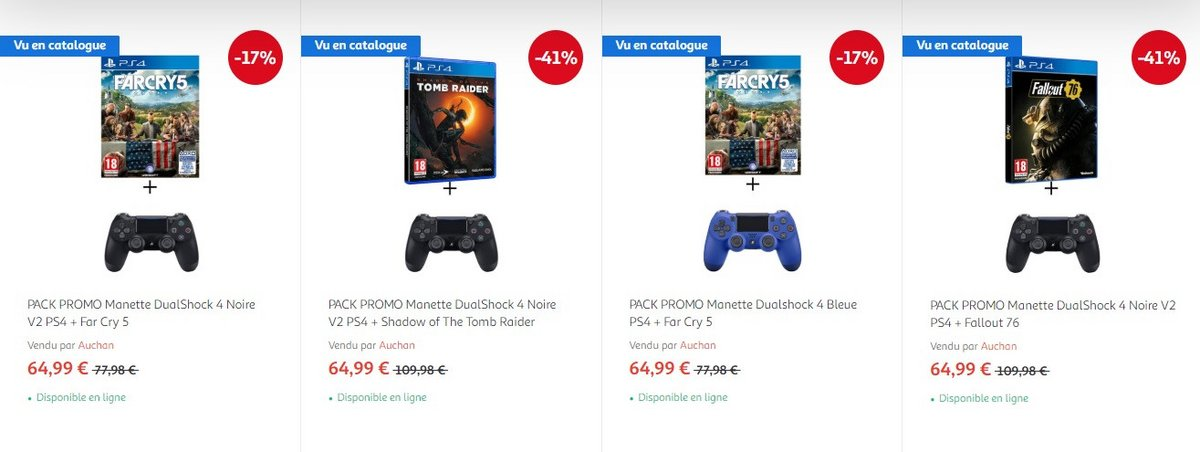 Pack manette PS4 + un jeu