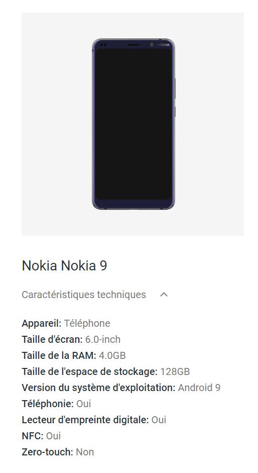 Nokia 9 fuite