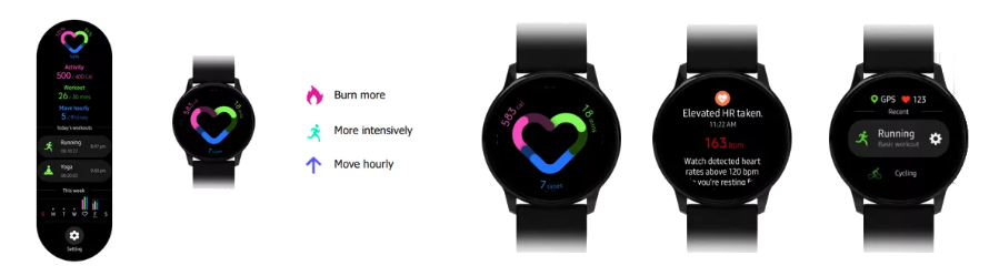 Galaxy Watch Active interface