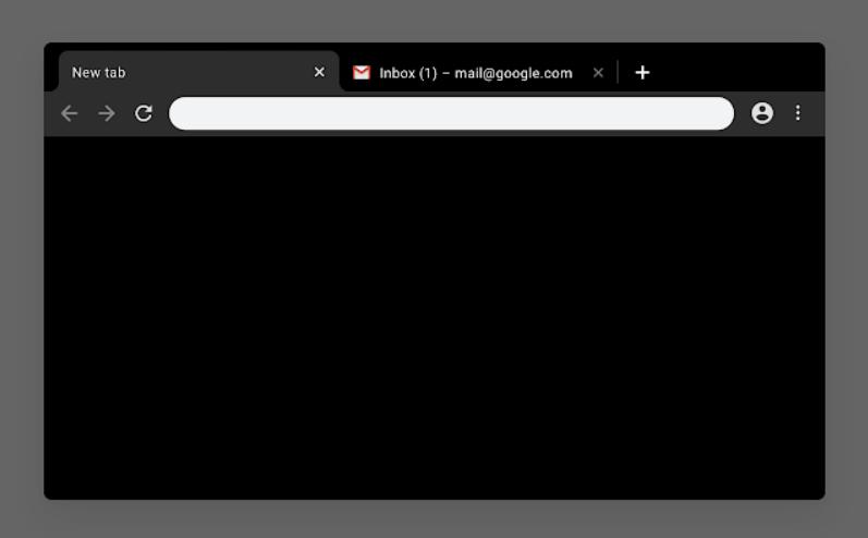 Google Chrome thème sombre