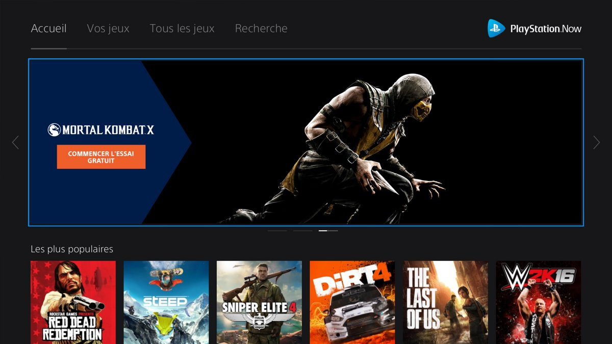 Playstation Now test