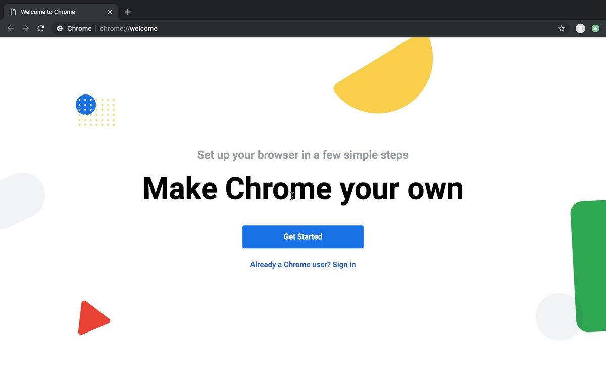 Google Chrome - Welcome