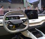 Salon Auto de Genève : découvrez le coupé électrique Skoda VISION iV en images