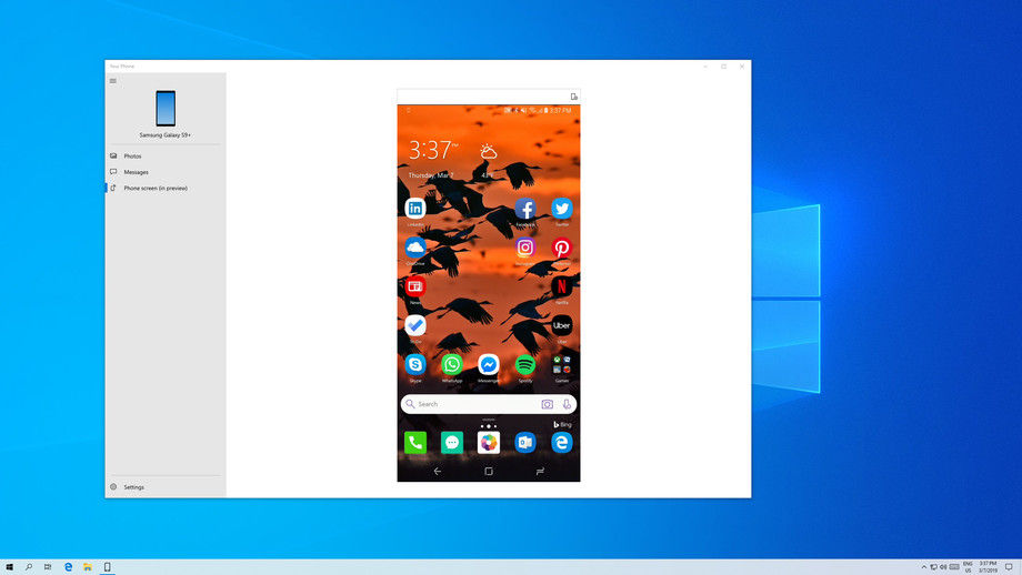 Windows 10 smartphone Android