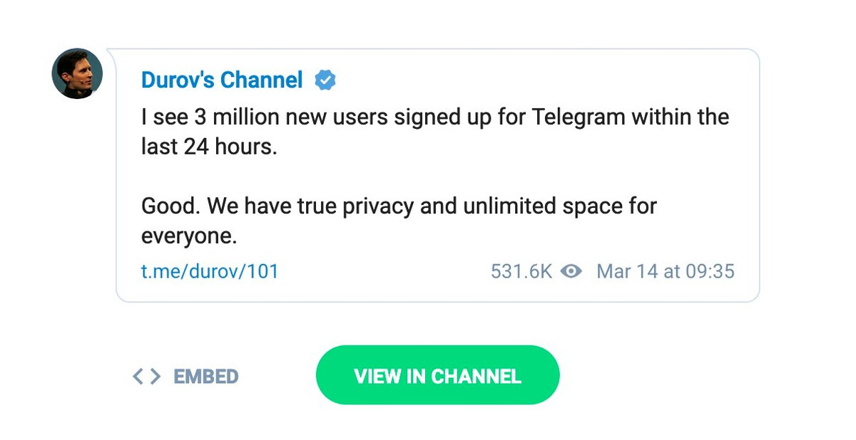 Telegram utilisateurs