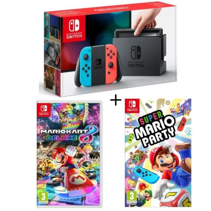 Pack Nintendo Switch + 2 Mario