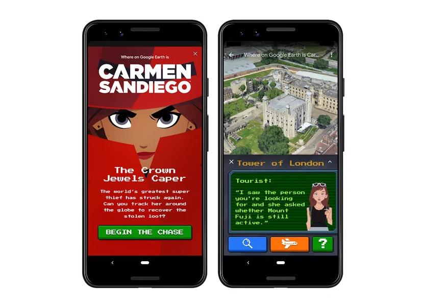 Google Earth Carmen Sandiego