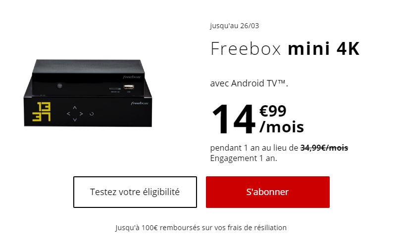 Free Mini 4K offre mars 2019
