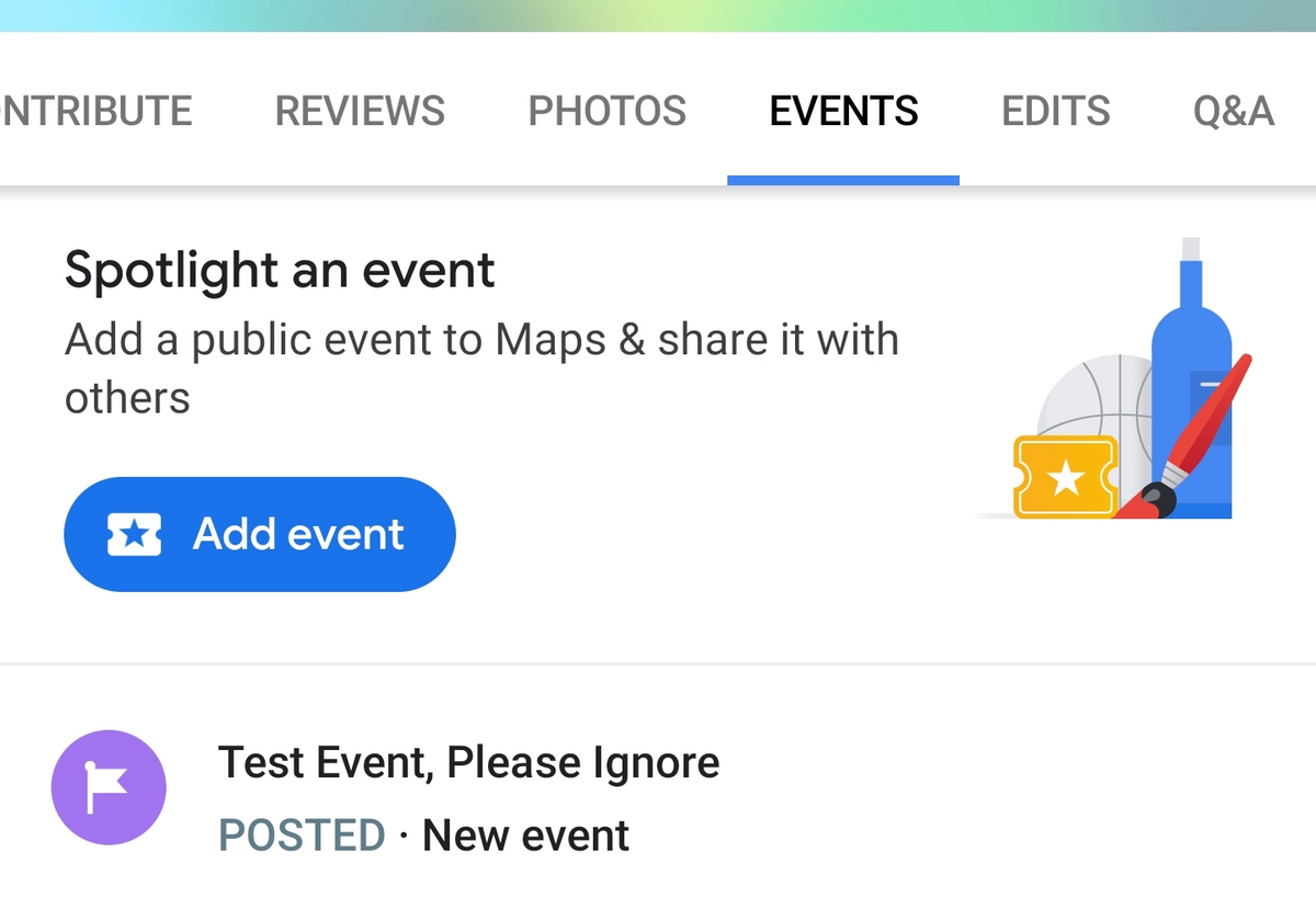 Google Maps evenements