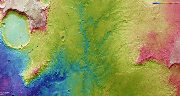 Réseau de rivières - Mars