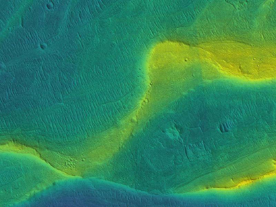 River channel on mars
