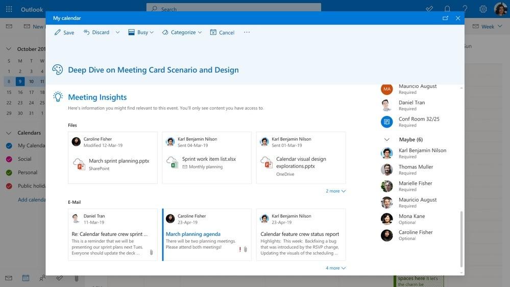 Outlook Meetings