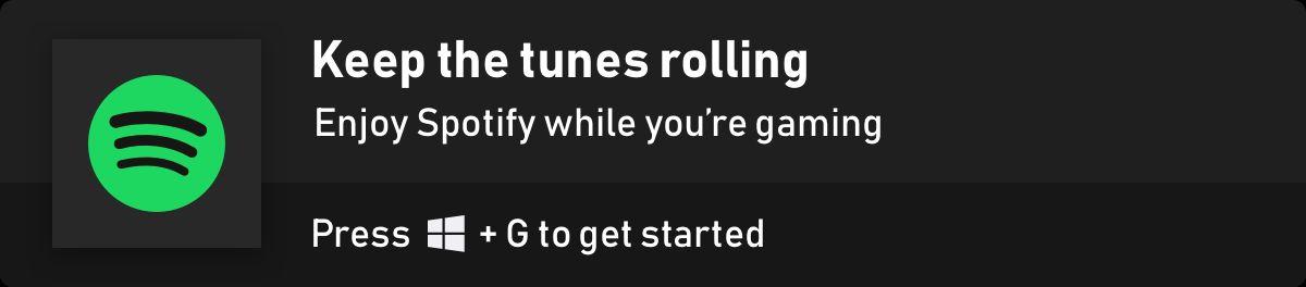 Spotify Game Bar