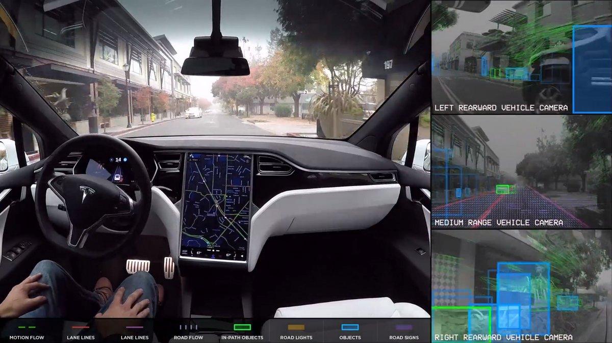 Tesla autopilot © Tesla
