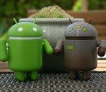 La capture d'écran étendue sur Android Stock est