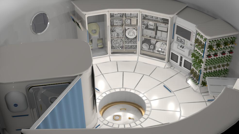 Deep space habitat