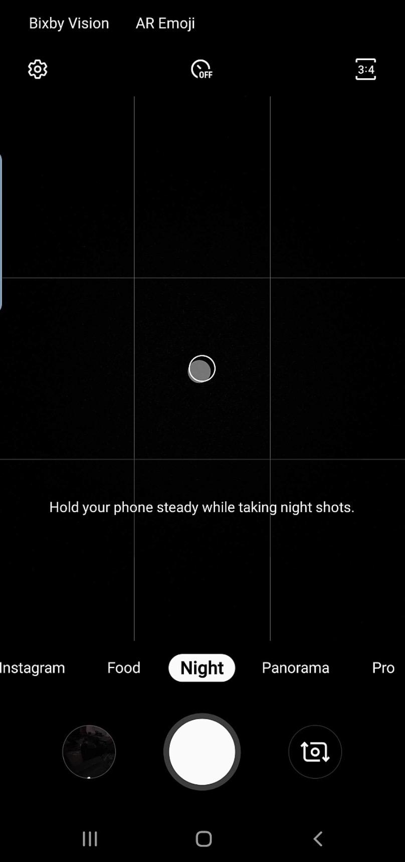 Galaxy S10 night mode