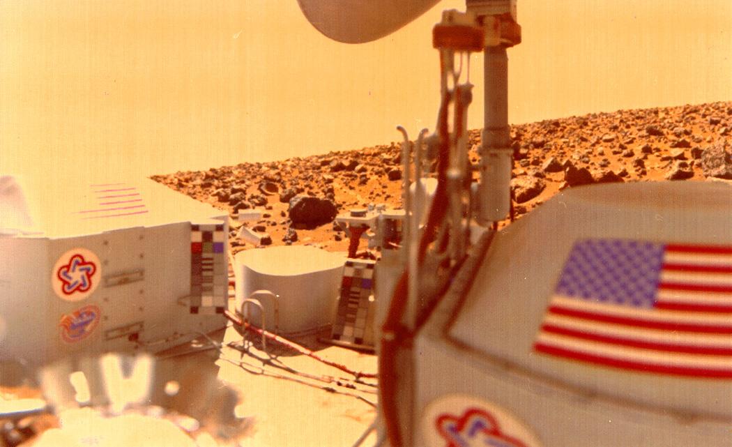 La sonde Viking 2 sur le site martien d'Utopia Planitia