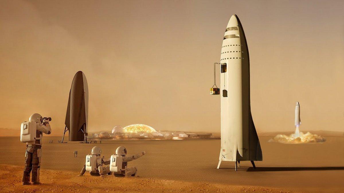 SpaceX - Starship on Mars