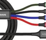 🔥 French Days : câble USB type C Baseus 4 en 1 à 4,46€ au lieu de 9,10€