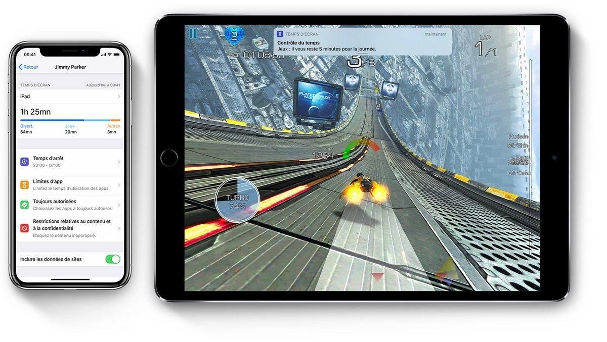 Temps d'écran iOS 12