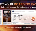 Mars 2020 : la NASA propose d'envoyer son nom sur la planète rouge