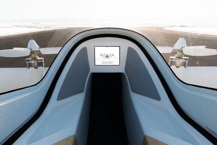 Taxi volant Airbus Alpha 2 vue intérieur