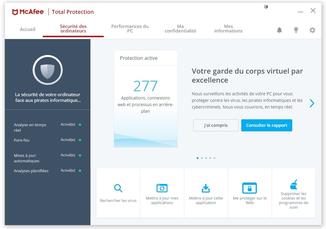 Télécharger McAfee Total Protection pour Windows : téléchargement gratuit !