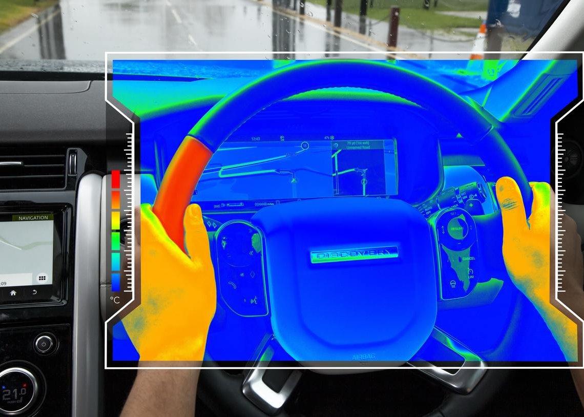 Jaguar Land Rover volant changeant de température