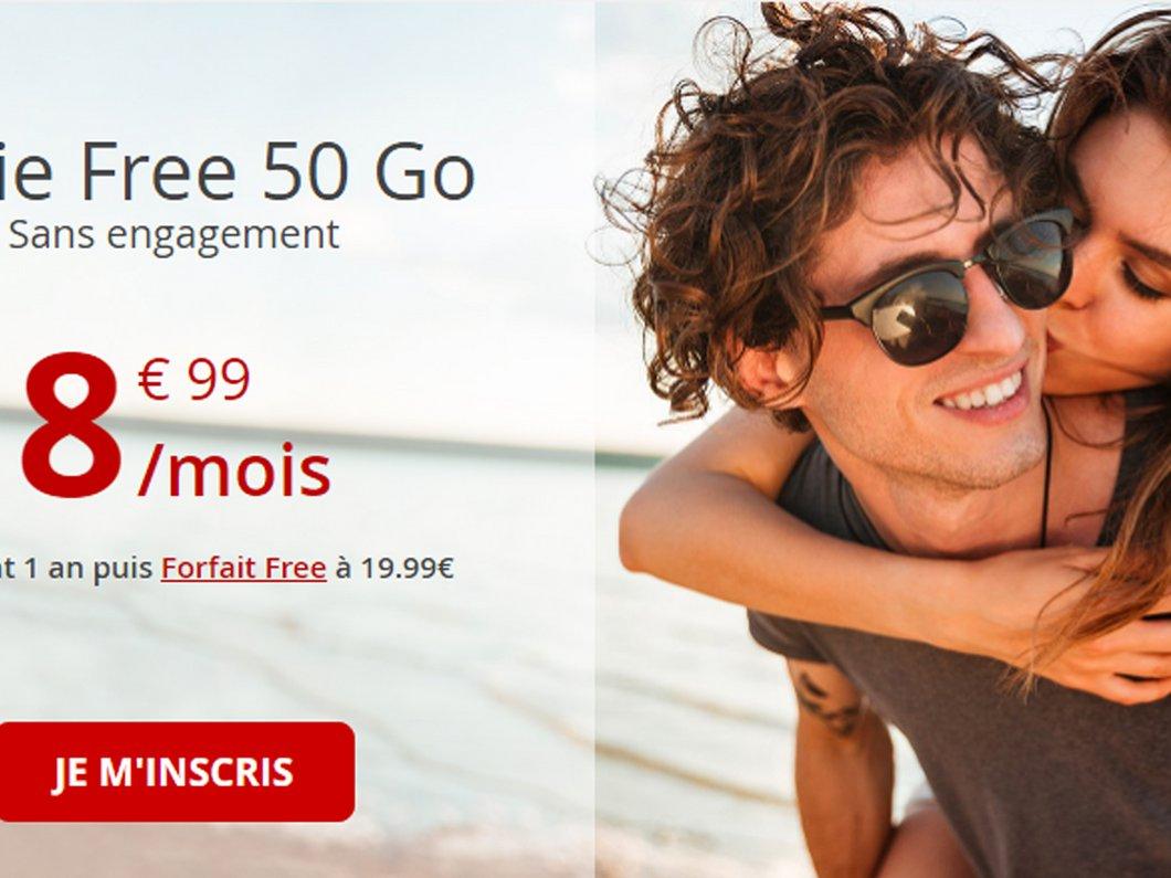 🔥 Free mobile : le forfait 50 Go pour moins de 9€/mois pour la rentrée