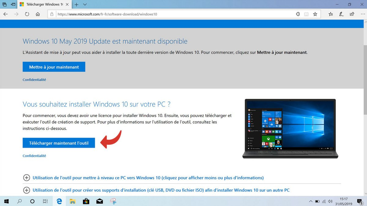 telecharger outil microsoft
