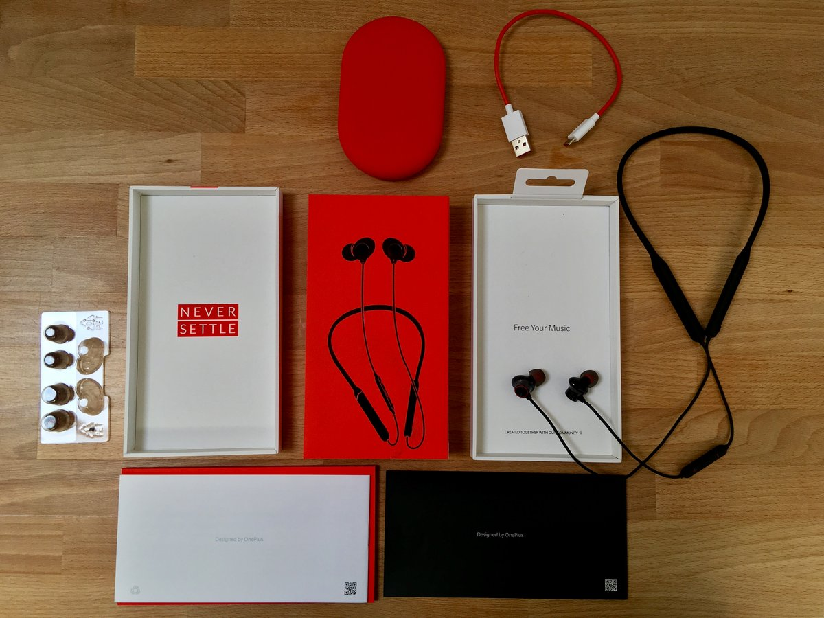 Contenu du coffret des OnePlus Bullets Wireless 2