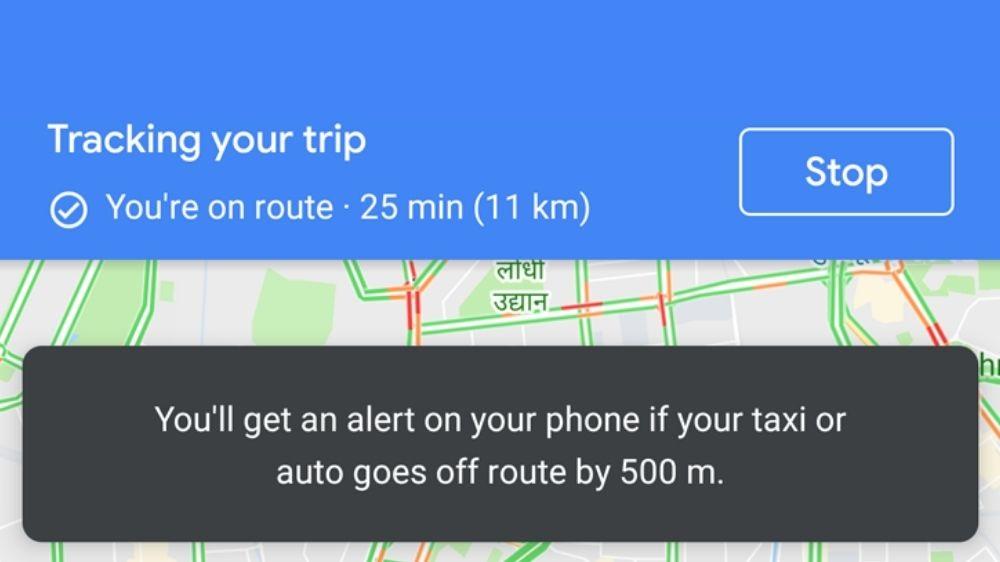 Google Maps Rester en sécurité