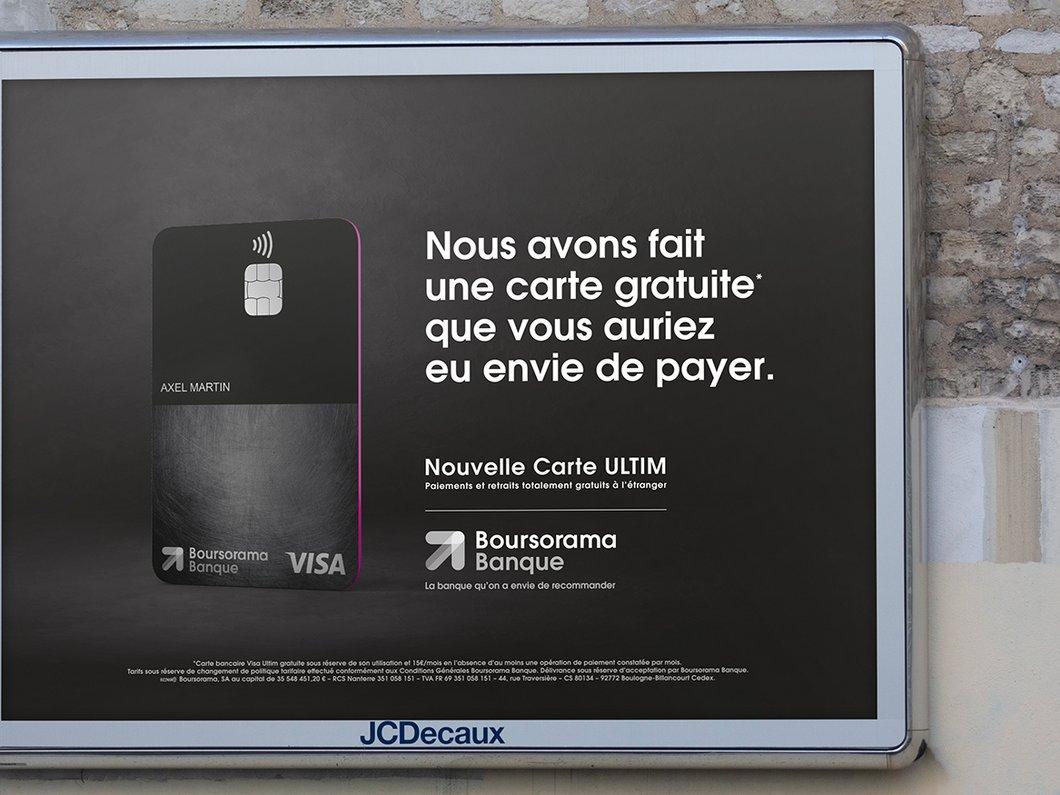 Boursorama s'attaque à N26 en lançant Ultim, sa carte totalement gratuite même à l'étranger