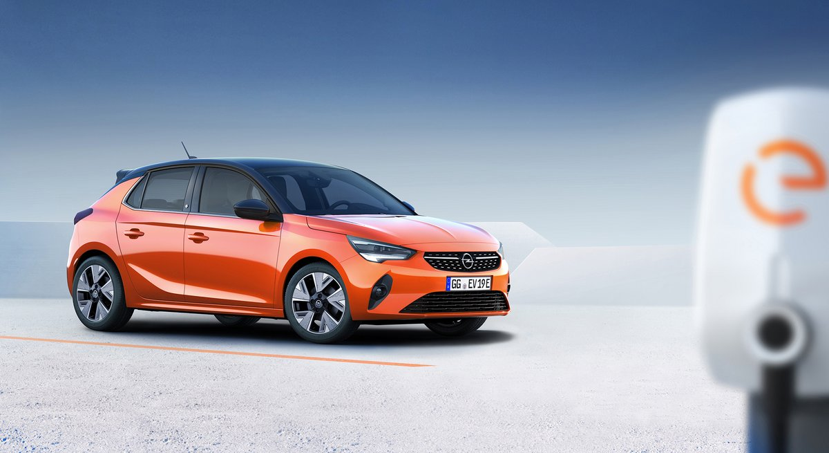 Opel Corsa-e, borne de charge