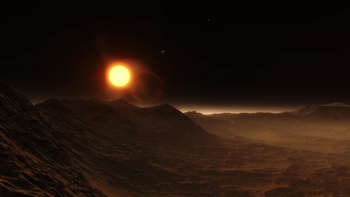 planète exoplanète vue d'artiste exo