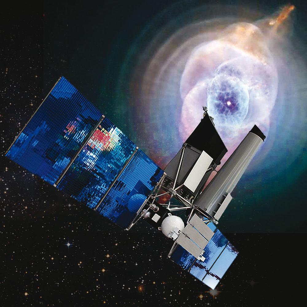Vue artistique de l'engin spatial Spectrum-RG
