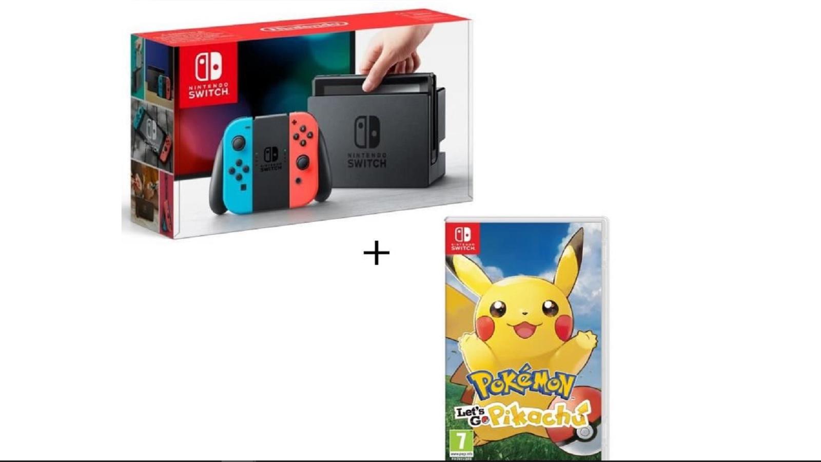 Cdiscount Carte Nintendo.Bon Plan Nintendo Switch Pokemon Let S Go Pikachu Evoli
