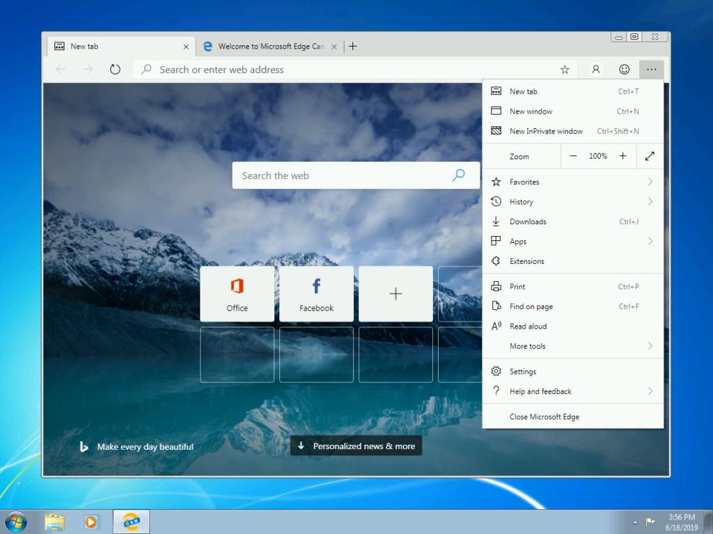 Edge Windows 7