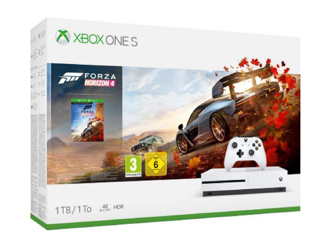 🔥 Soldes 2019 : Xbox One S 1 To + Forza Horizon 4 à 169,99€ au lieu de 279,99€