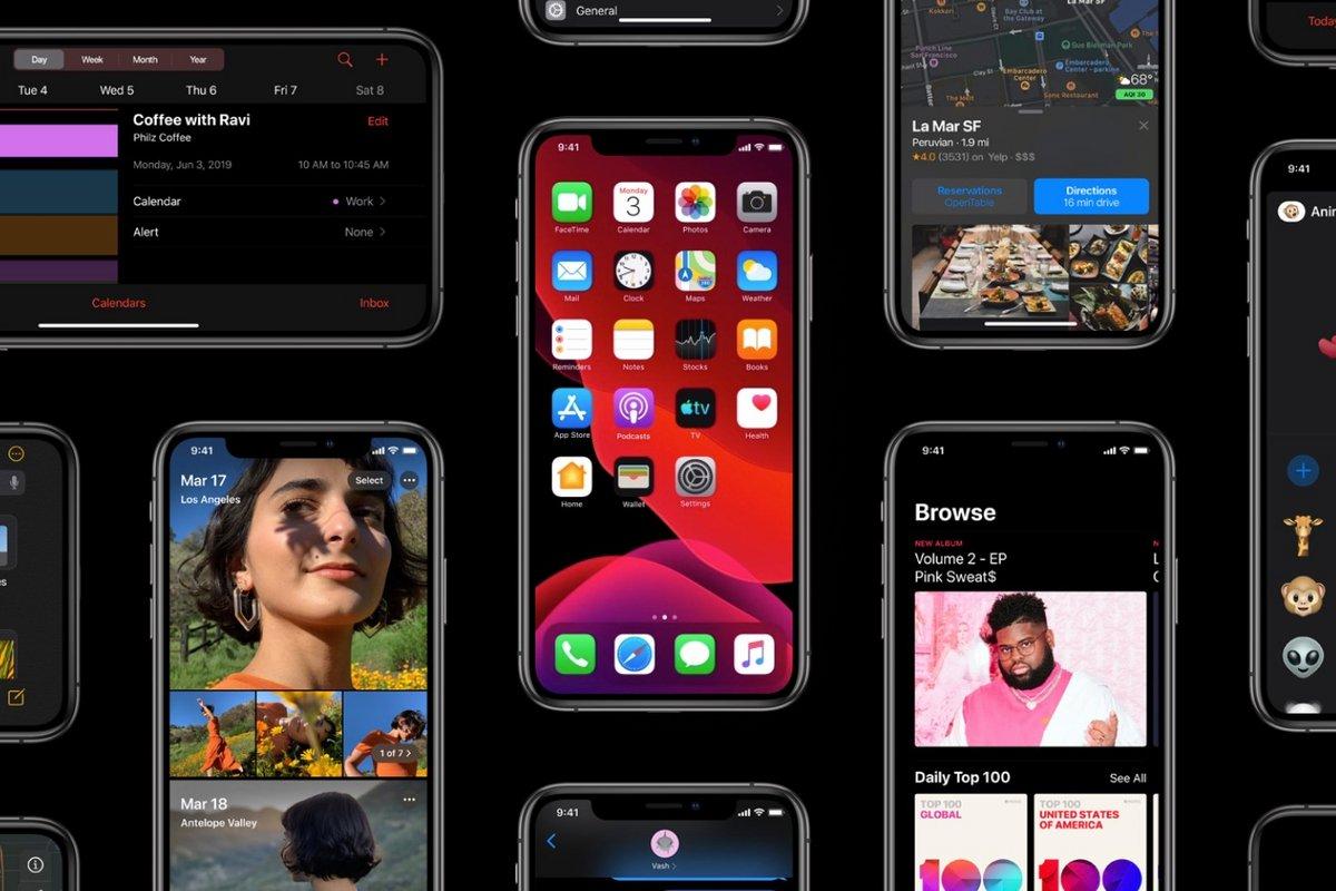 iOS 13 nouveautés
