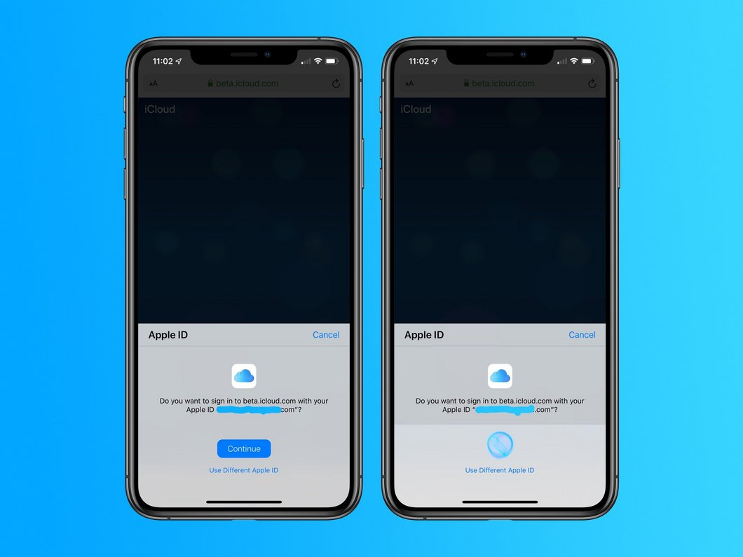 Apple teste la connexion à son site iCloud via Touch ID ou Face ID